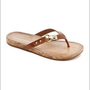 Antonio Melani Leather Thongs Size 9